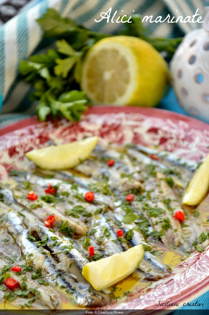 Marinated Anchovies Sicilian (male cunzati)