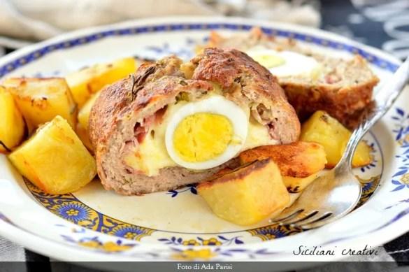 Polpettone farcito al forno alla siciliana. La ricetta segreta di mia madre, di una bontà ineguagliabile.
