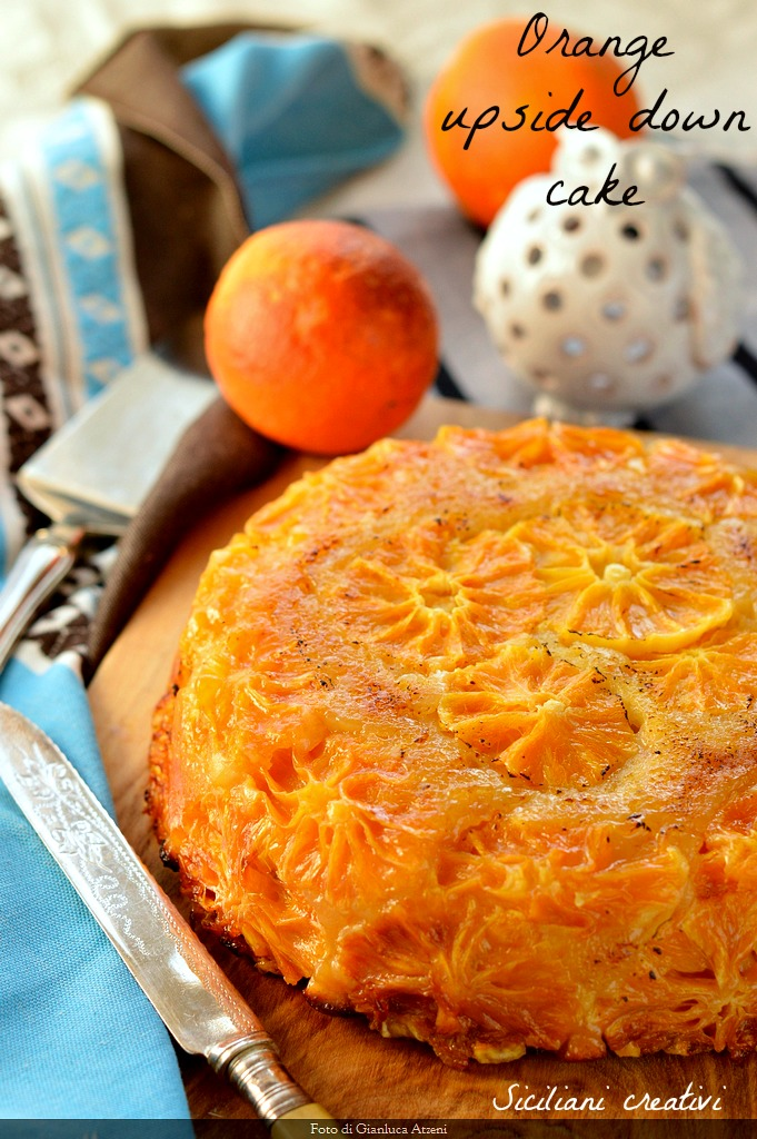 Orange inverted cake: deliciously citrus and soft