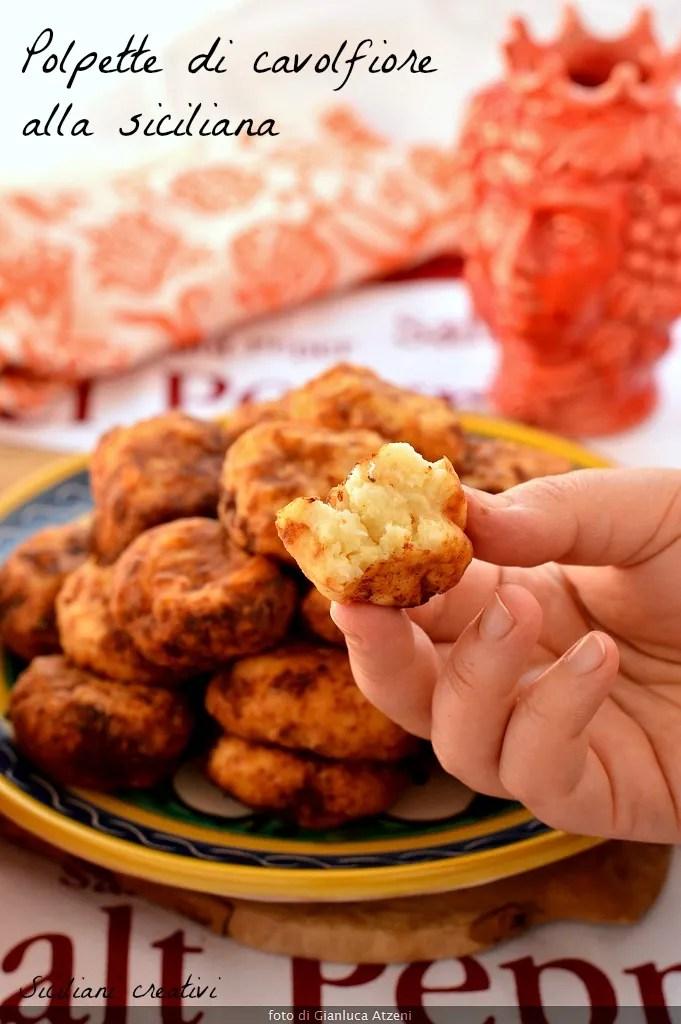 Cauliflower meatballs sicilian style