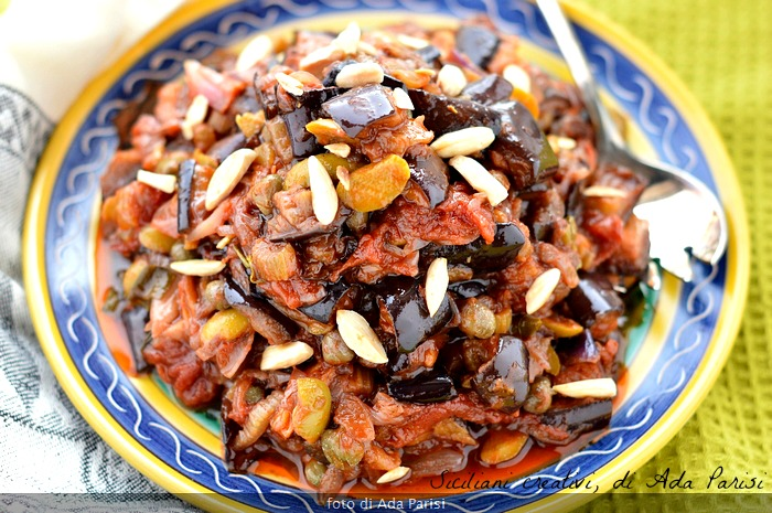 The Sicilian eggplant caponata, original recipe