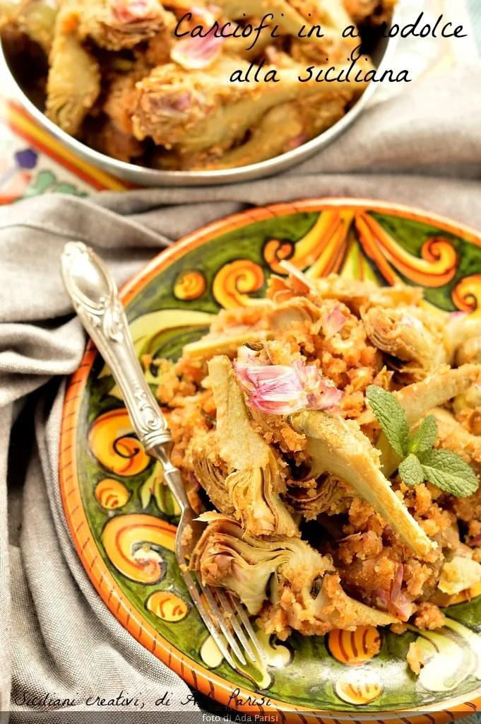 Artichokes and sour Sicilian