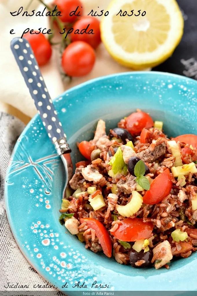 Insalata di riso rosso e pesce spada siciliani creativi for Quanto vive un pesce rosso
