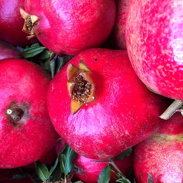 Pomegranates, red and fragrant, I am a concentrate of anti oxidants