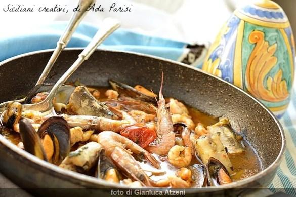 Zuppa di pesce con grongo
