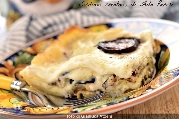 Lasagna bianca con melanzane alla siciliana: cremose e facilissime