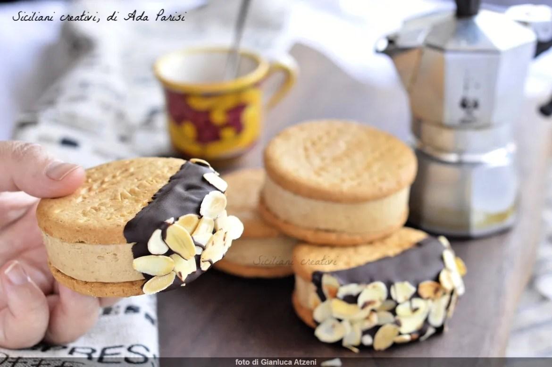 Hausgemachte Kaffee Eis Keks