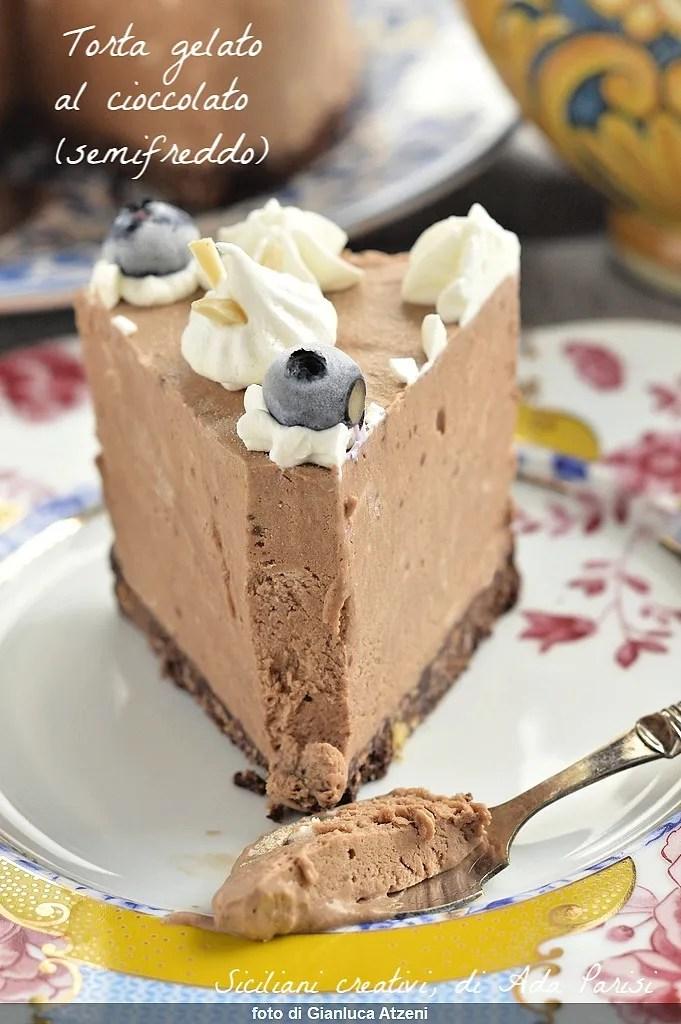 Torta gelato al cioccolato (semifreddo)