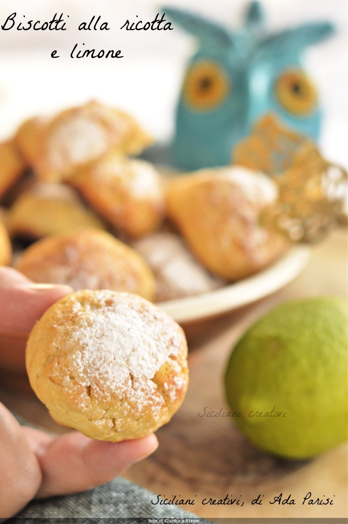 Quick ricotta and lemon biscuits, no butter