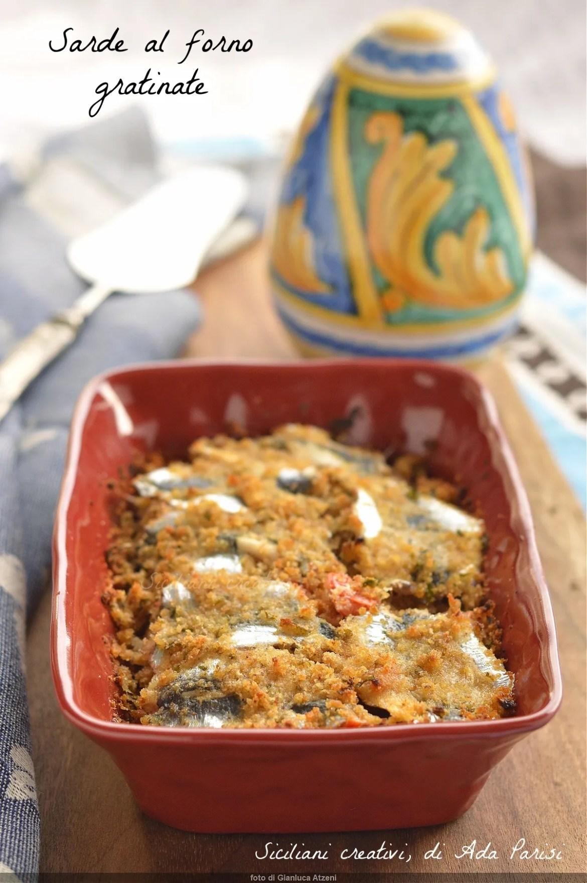 Sarde gratinate al forno alla siciliana