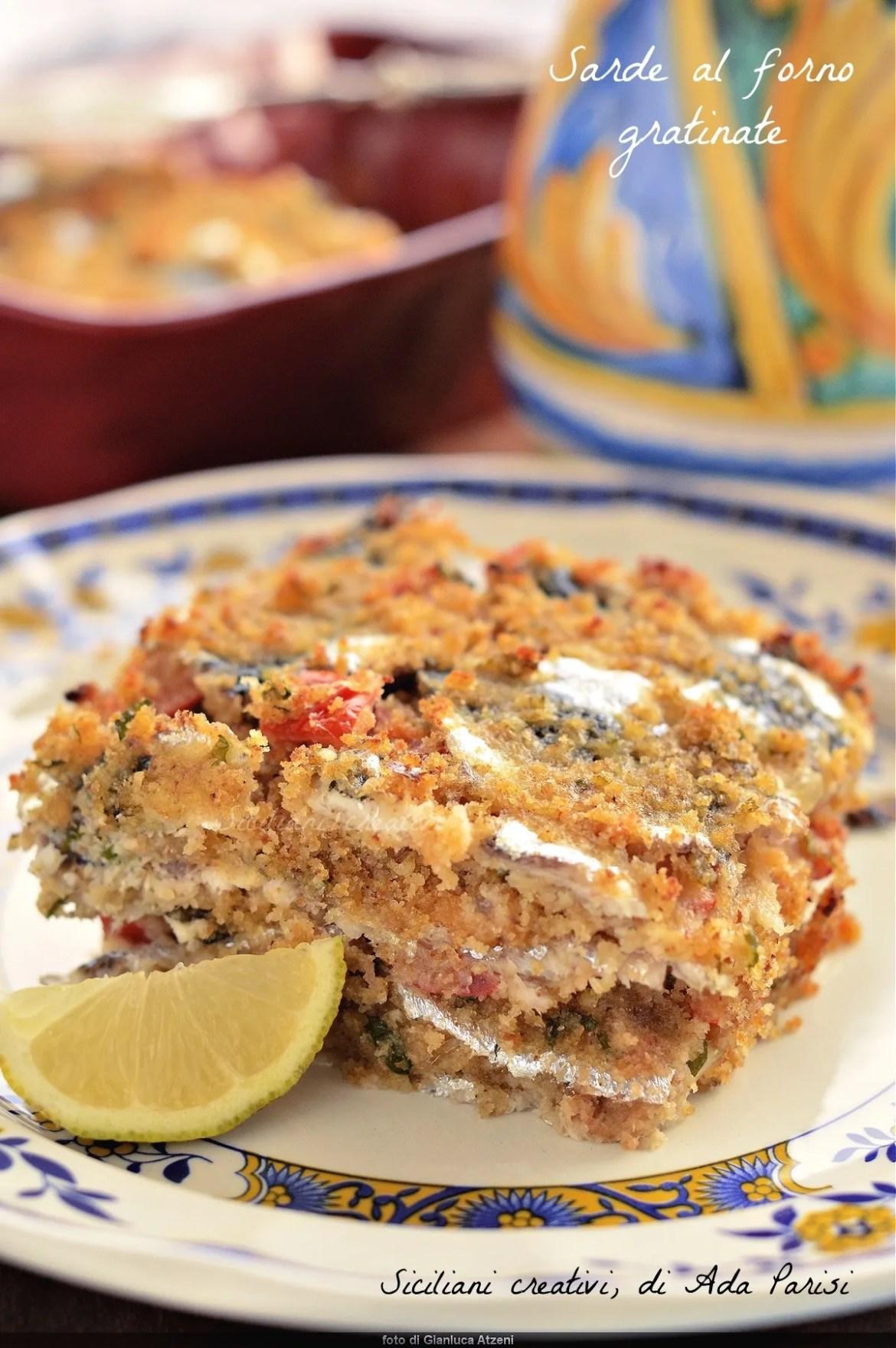Sarde al forno gratinate alla siciliana