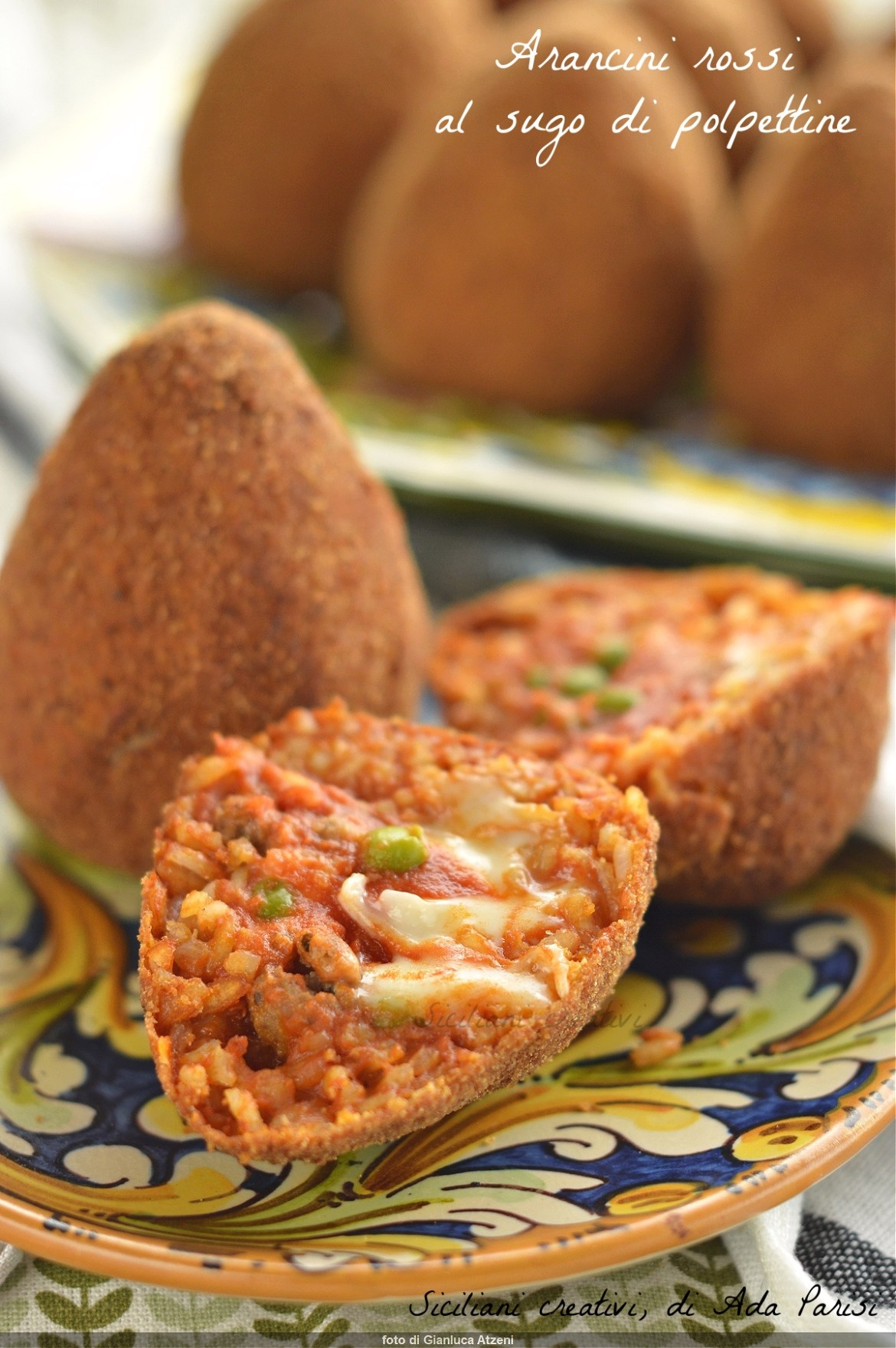 Rice arancini with meatball sauce