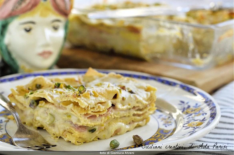 Pistachio lasagne