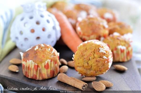 Muffin carote e ricotta, senza burro