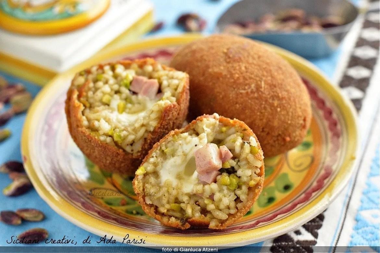 Arancini di riso al pistacchio