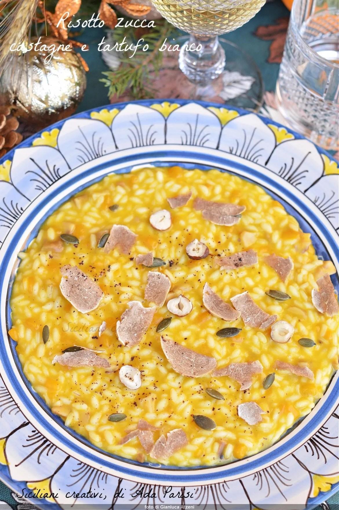 Risotto zucca castagne e tartufo bianco