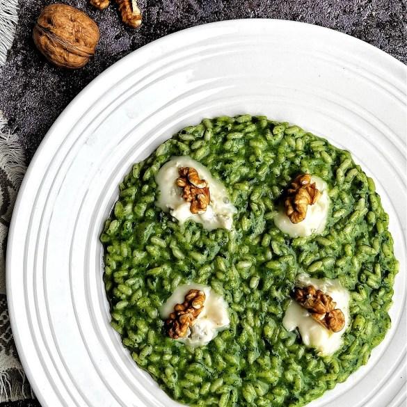 Risotto alla borragine e gorgonzola