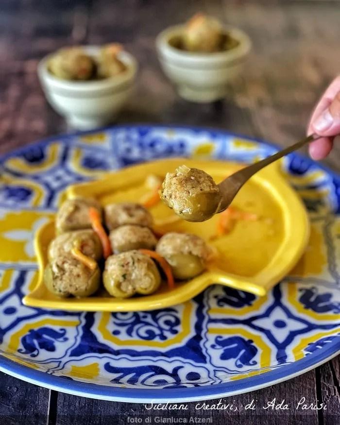 Olives farcies au messinese