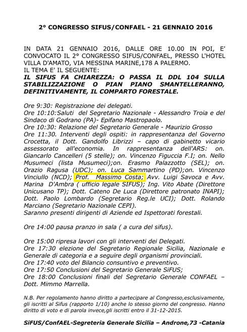 Siciliani Liberi al congresso Sifus: una voce nuova tra i soliti politici