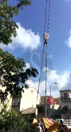 #Barcellona. Difficile il recupero della betoniera in via Oreto LE FOTO