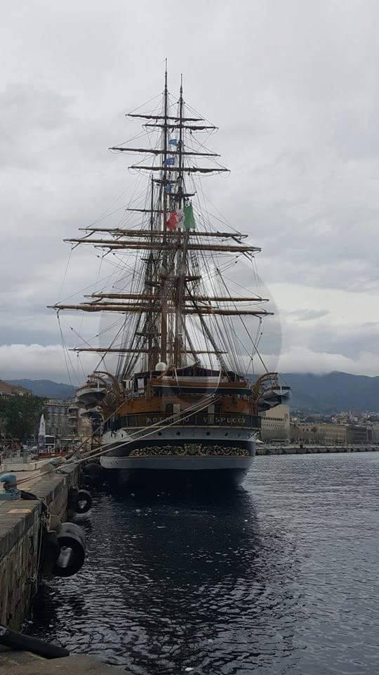 #Messina. Arrivata in città l'Amerigo Vespucci  TUTTE LE FOTO