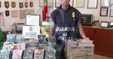#Messina. Maxi sequestro di CD e DVD contraffatti