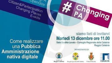 #Messina. Changing PA: una pubblica amministrazione nativa digitale