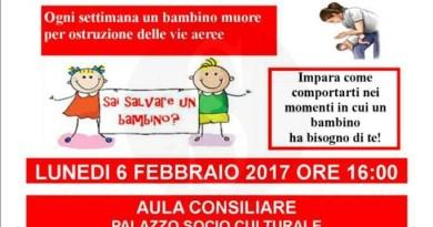 #SantaLuciadelMela. Corso di primo soccorso e manovre salvavita per i bambini