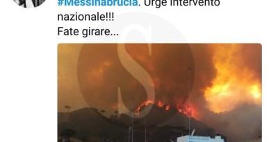#Cronaca. L'appello di Fiorello su Twitter per Messina che brucia