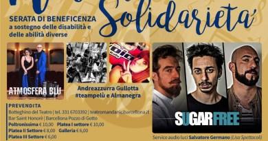 """Spettacolo. Al Teatro Mandanici di Barcellona l'evento """"Note di solidarietà"""""""