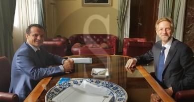 Politica. Palazzo dei Leoni, visita di cortesia del Console ucraino Viktor Hamotskyi