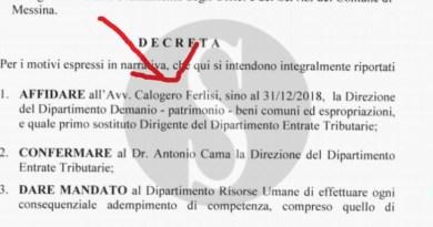Politica. Messina, Ferlisi chiede di passare all'Avvocatura ma De Luca lo manda al Demanio