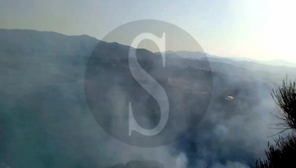 Cronaca. In fiamme la zona tra Calamona, Salice e  Castanea: fuoco domato dopo oltre 5 ore