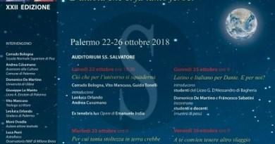"""Cultura. Tutto pronto a Palermo per la """"XXIISettimanadi StudiDanteschi"""""""