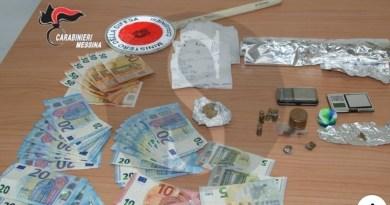 A San Filippo del Mela due arresti per detenzione ai fini di spaccio di sostanze stupefacenti