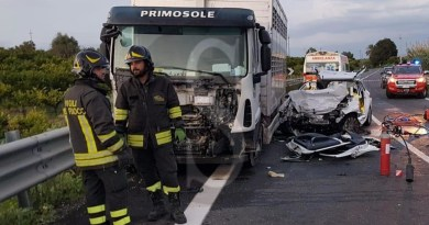 Siracusa, incidente mortale a Francofonte: messinesi le 3 vittime