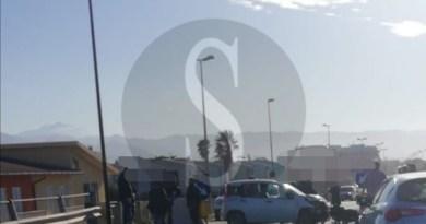 Barcellona PG, incidente sul ponte Mela: conducente ferita, circolazione in tilt