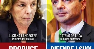 Oggi Matteo Salvini difende Cateno De Luca contro il ministro Lamorgese, ma nel 2017…