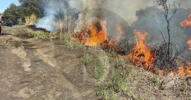Incendio a Vulcano, intevengono i Vigili del Fuoco