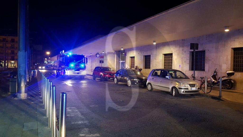 Messina, Stazione FS: panico per un condizionatore che ha preso fuoco