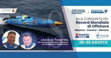 Messina, record mondiali offshore: Maurizio Schepici su Tommy One per 70 miglia in meno di un'ora fra Stretto ed Eolie