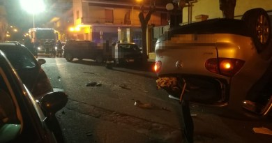 Barcellona PG, grave incidente in via Roma: 2 feriti, la strada chiusa al transito