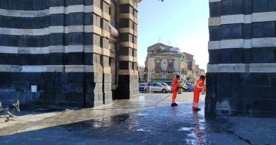 Catania, Porta Garibaldi, rimosse scritte di gruppi criminali per segnare la zona di spaccio di droga