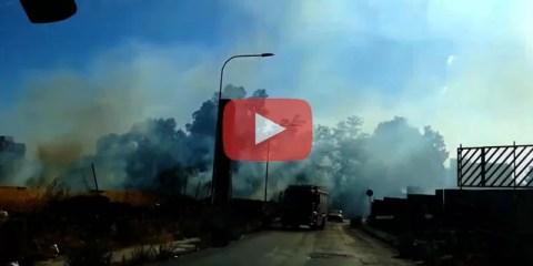 Incendio a Paternò