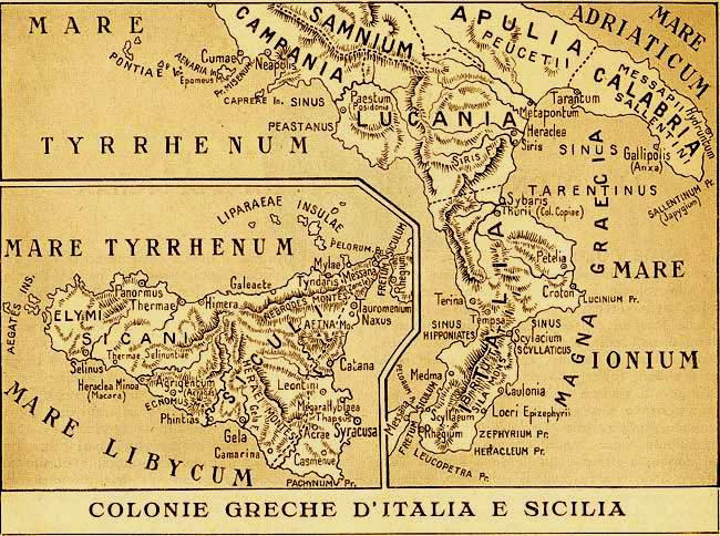 The most striking aspect of the history of Sicily Even the Sicani, Elymi and Siculi..