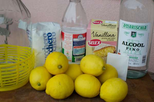 Ingredients for Creamy Limoncello
