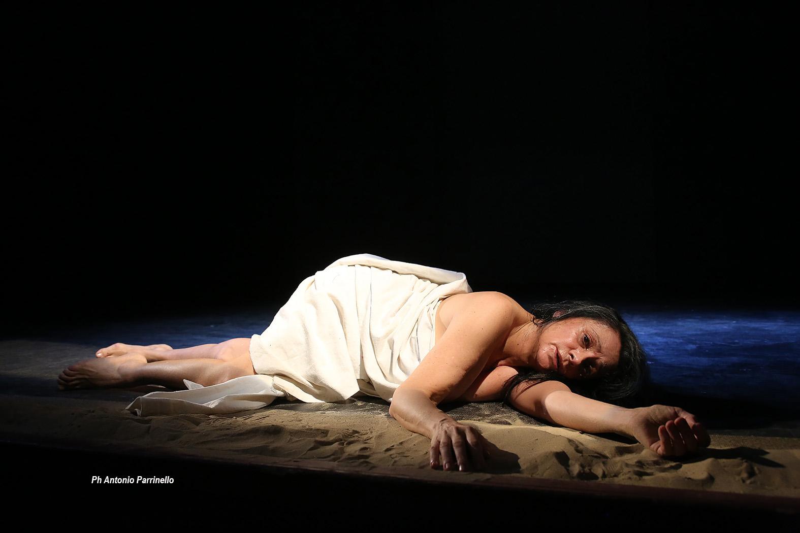 Guia Jelo-Daniela Rocca durante le prove di Sabbie mobili