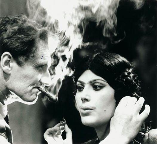 Pietro Germi e Daniela Rocca sul set di Divorzio all'italiana