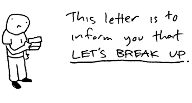 The Best Breakup Letters Ever