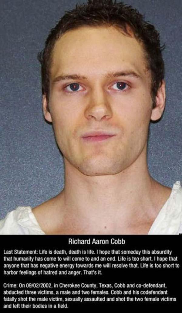 Last Words Of Death Row Inmates  Sick Chirpse
